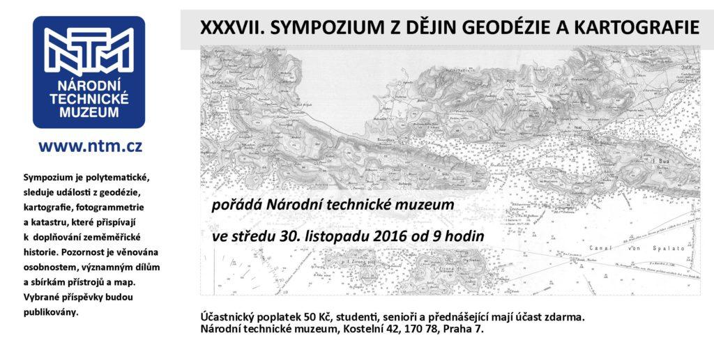 Pozvánka na 37. ročník Sympozia o dějinách geodézie a kartografie